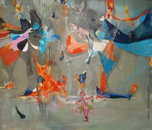 "Абдурахманов А. Н. Эскиз декорации к опере Моцарта ""Волшебная флейта"""