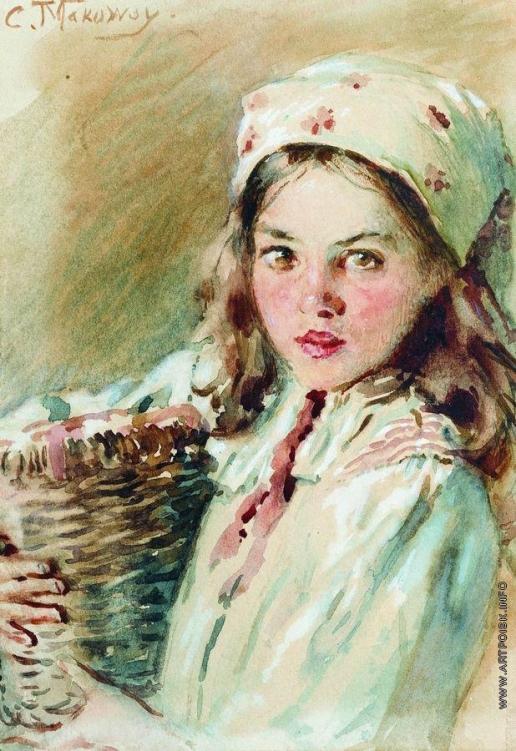 Маковский К. Е. Головка девочки в платке