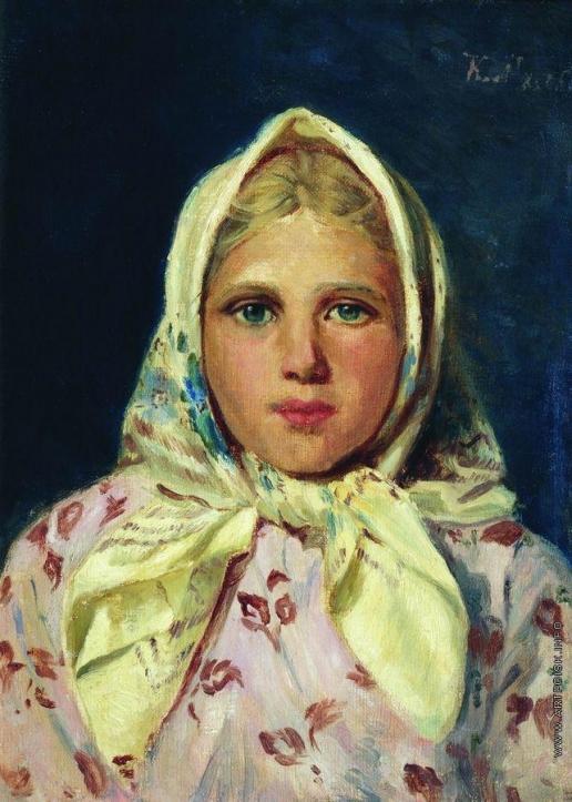 Маковский К. Е. Девочка в платке (Портрет девочки)