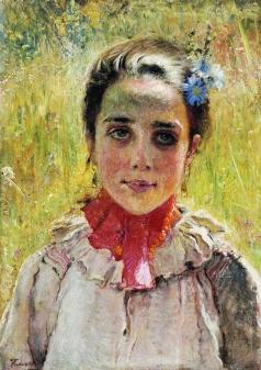 Маковский К. Е. Девочка в поле