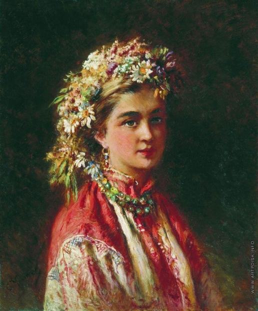 Маковский К. Е. Девушка в венке