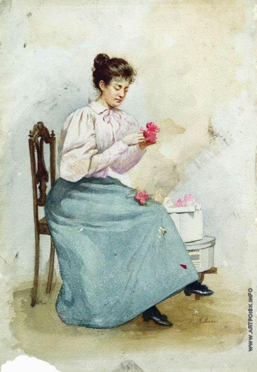 Маковский К. Е. Девушка с цветами