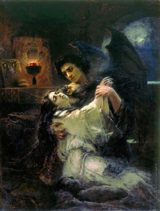 Маковский К. Е. Демон и Тамара