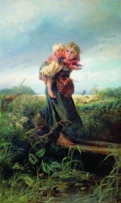 Маковский К. Е. Дети, бегущие от грозы