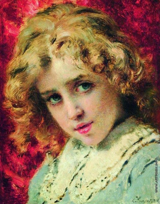 Маковский К. Е. Детская головка (Портрет сына Константина?)