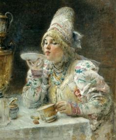 Маковский К. Е. За чаем