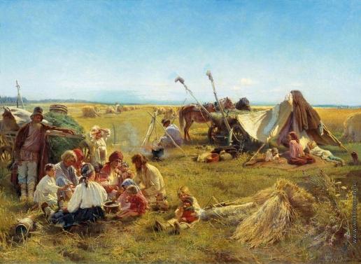 Маковский К. Е. Крестьянский обед во время жатвы