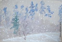 Абакумцев Н. И. Первый снег