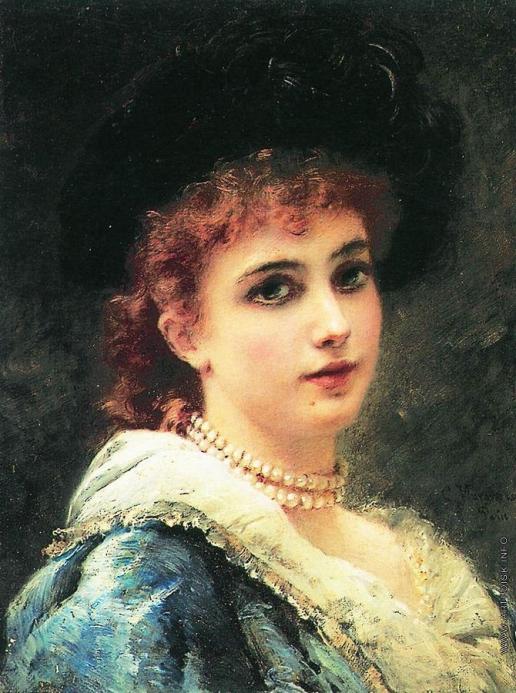 Маковский К. Е. Парижанка в жемчужном ожерелье