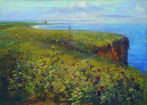Маковский К. Е. Пейзаж (Море и цветы)