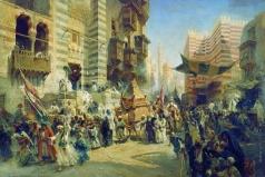 Маковский К. Е. Перенесение священного ковра в Каире