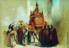 Маковский К. Е. Перенесение священного ковра из Мекки в Каир