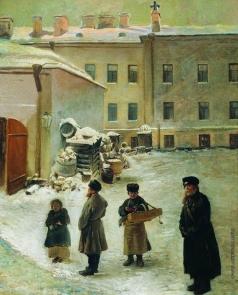 Маковский К. Е. Петербургский дворик