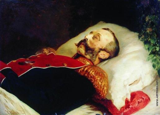 Маковский К. Е. Портрет Александра II на смертном одре