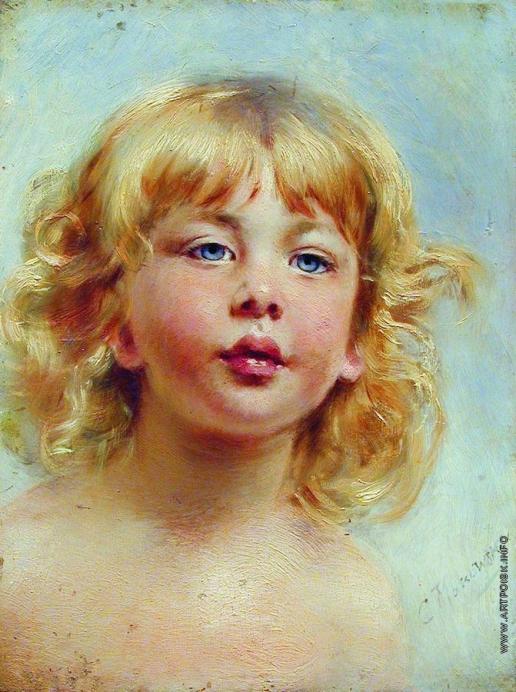 Маковский К. Е. Портрет девочки (Детская головка)