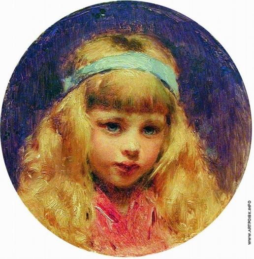 Маковский К. Е. Портрет девочки с голубой лентой в волосах