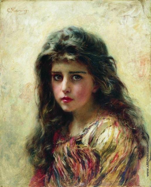 Маковский К. Е. Портрет девушки