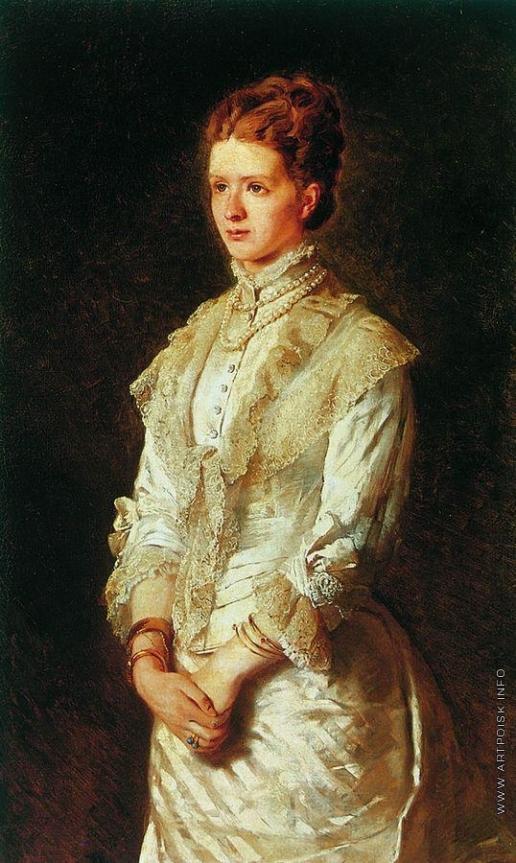 Маковский К. Е. Портрет девушки в белом платье