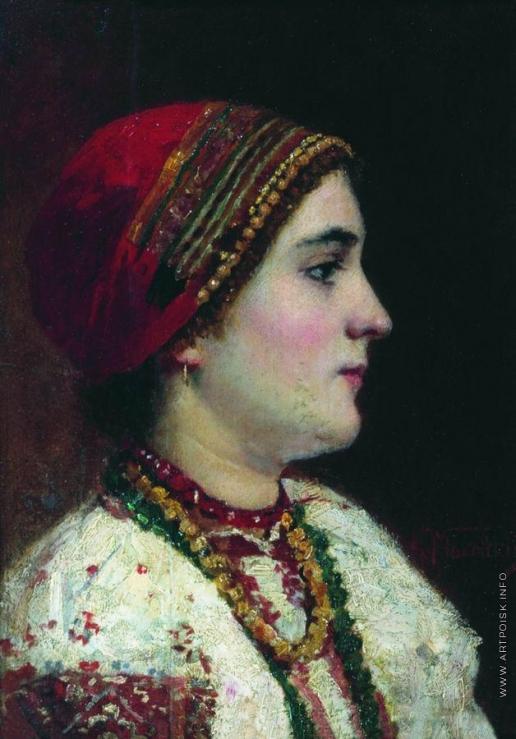 Маковский К. Е. Портрет девушки в украинском костюме