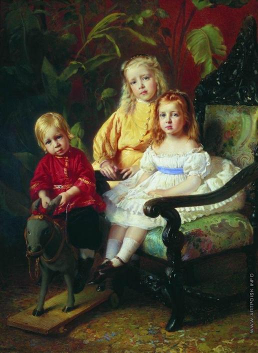 Маковский К. Е. Портрет детей Стасовых