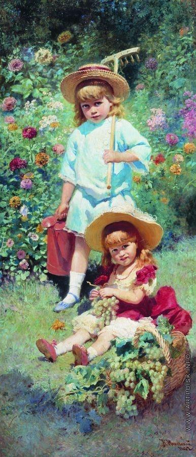 Маковский К. Е. Портрет детей художника