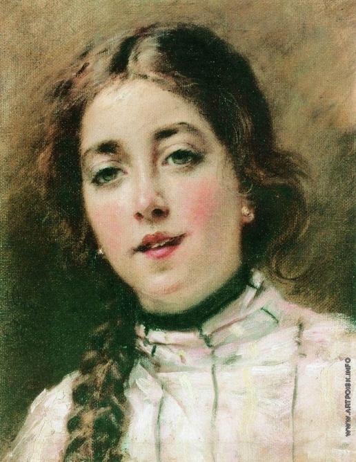 Маковский К. Е. Портрет дочери художника. Оленька