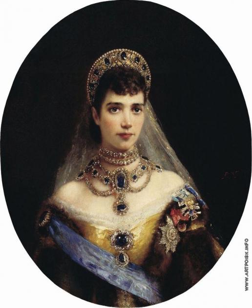 Маковский К. Е. Портрет императрицы Марии Федоровны - супруги императора Александра III
