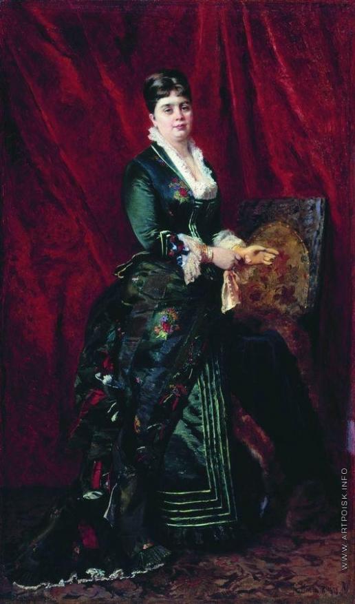 Маковский К. Е. Портрет молодой женщины в зеленом платье