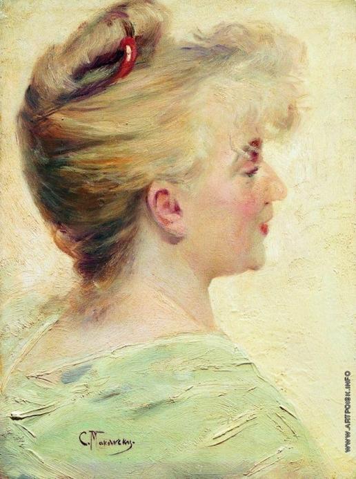 Маковский К. Е. Портрет молодой женщины в профиль