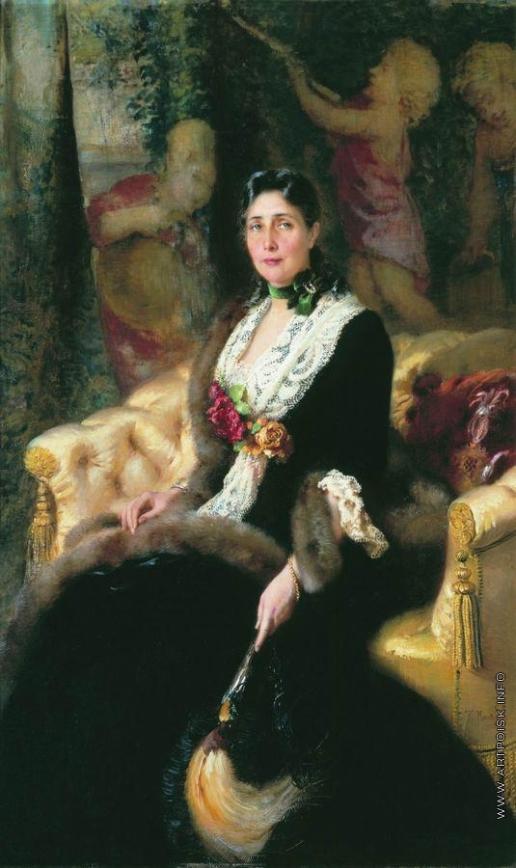 Маковский К. Е. Портрет неизвестной в черном платье