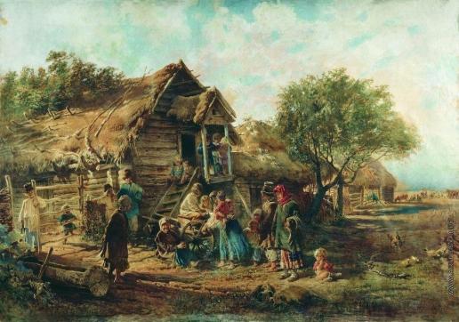 Маковский К. Е. После базара (Деревенская сцена)