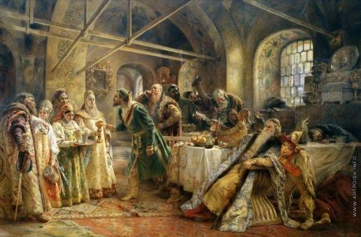 Маковский К. Е. Поцелуйный обряд (Пир у боярина Морозова)