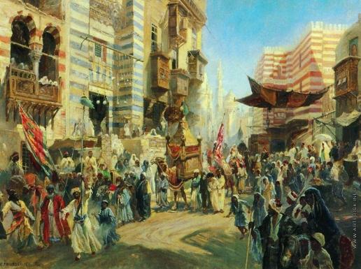 Маковский К. Е. Праздник перенесения священного ковра из Каира в Мекку