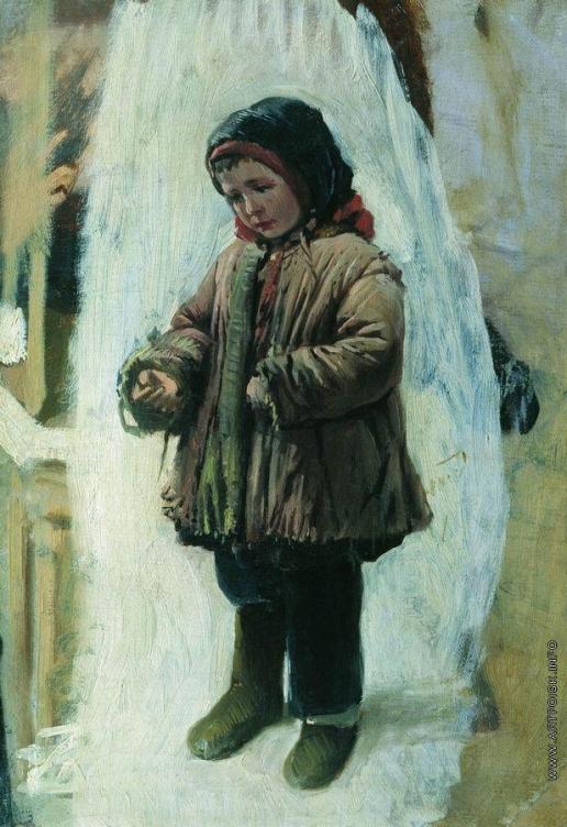 Маковский К. Е. Ребенок на снегу