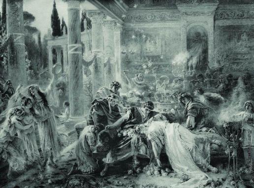 Маковский К. Е. Смерть Петрония