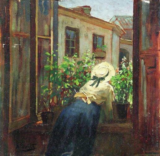 Маковский К. Е. У раскрытого окна