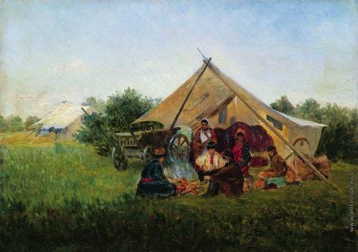 Маковский К. Е. Цыганский табор у костра
