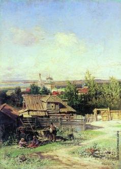 Маковский Н. Е. Вид на Волге близ Нижнего Новгорода