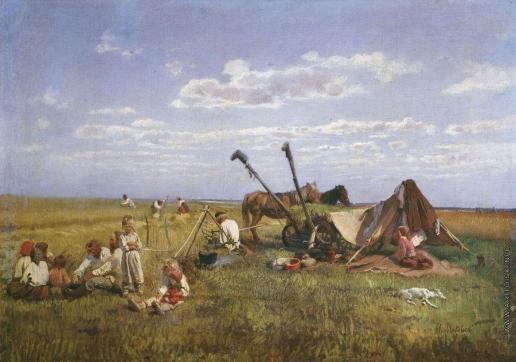 Маковский Н. Е. Отдых на жатве
