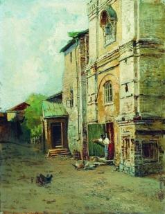 Маковский Н. Е. У Крутицкого терема в Москве