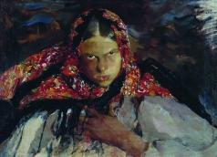 Малявин Ф. А. Крестьянская девушка