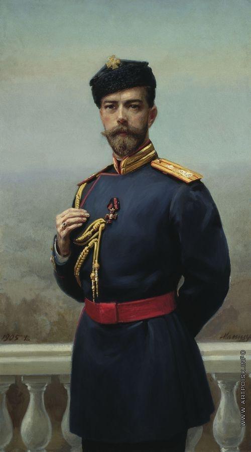 Манизер Г. М. Император Николай II с орденом святого Владимира
