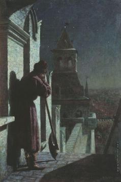 Матвеев Н. С. Стрелец на башне Кремля в лунную ночь