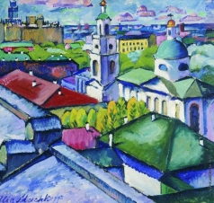 Машков И. И. Вид Москвы. Мясницкий район. 1912-