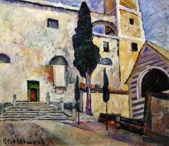 Машков И. И. Кипарис у соборной стены. Италия