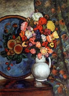 Машков И. И. Натюрморт. Цветы в вазе (с подносом)