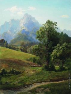 Мещерский А. И. Альпийский пейзаж