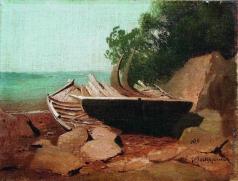 Мещерский А. И. Барки на берегу