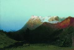 Мещерский А. И. В горах (Сумерки в горах)