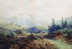 Мещерский А. И. Горная речка на Кавказе